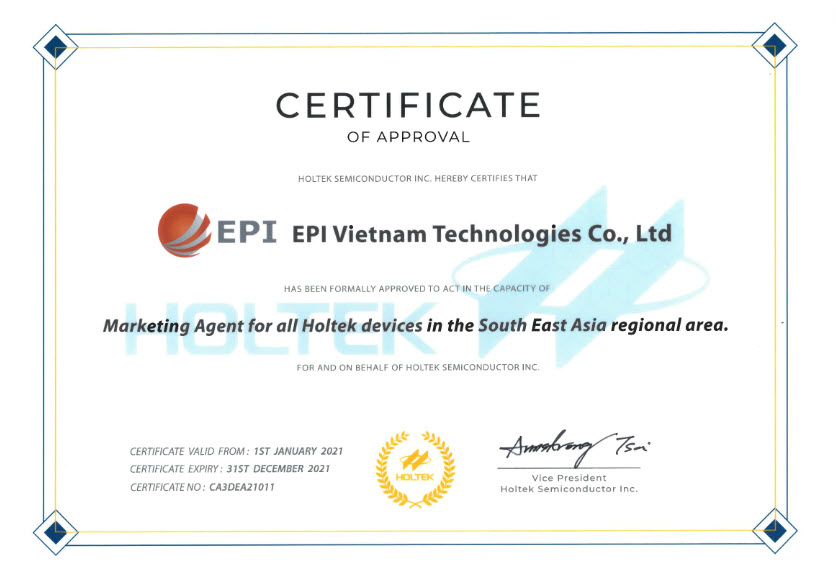 epi-vietnam-technologies-co-ltd-to-become-the-official-distributor-of-holtek-semiconductor-inc-in-south-east-asia